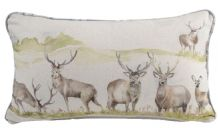 Handmade Voyage Maison Moorland Stag Bolster Cushion